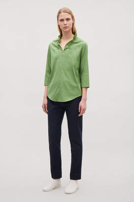 Cos BLOUSE WITH FRILL V-NECK