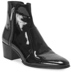 Balmain Men's Fitz Patent Leather Boots - Black - Size 43 (10)