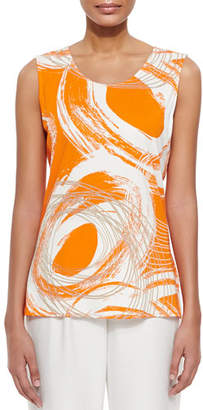 Caroline Rose Orange Swirl Longer Tank