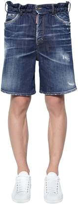 DSQUARED2 Marine Cotton Denim Shorts