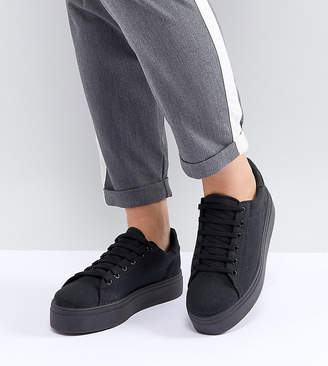 Asos DESIGN Wide Fit Day Light flatform lace up sneakers
