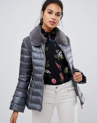 Ted Baker Yelta Faux Fur Collar Down Jacket