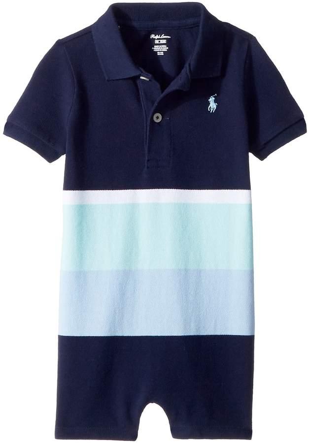 Cotton Mesh Polo Shortalls Boy's Overalls One Piece