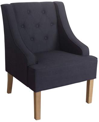 HomePop Kate Tufted Swoop Arm Accent Chair