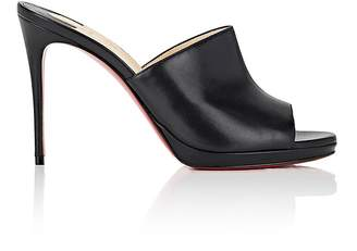 Christian Louboutin Women's Pigamule Leather Mules
