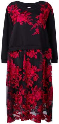 Antonio Marras floral embroidered sweater dress