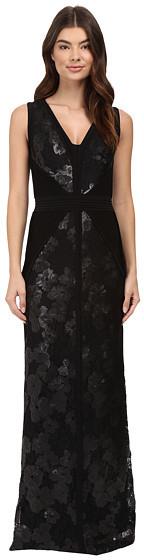 Calvin KleinCalvin Klein V-Neck Jersey Sequin Gown CD6B1X7E