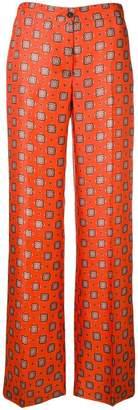 Alberto Biani printed palazzo trousers