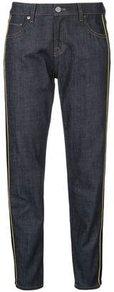 Victoria Beckham Victoria contrast stripe cropped jeans