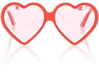 Heart-frame sunglasses