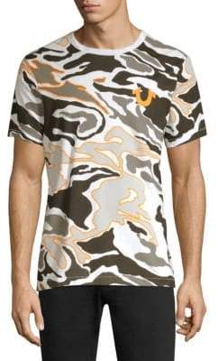 True Religion Camouflage Buddha Cotton Tee