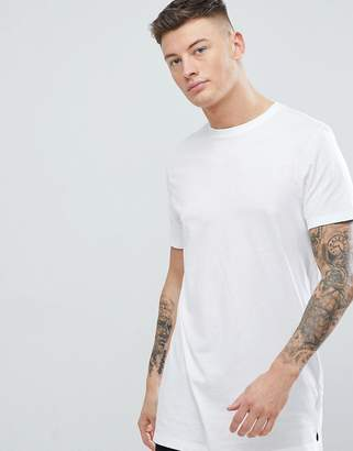 New Look Longline T-Shirt In White