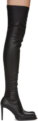 Stella McCartney Black Palmer Over-the-Knee Boots