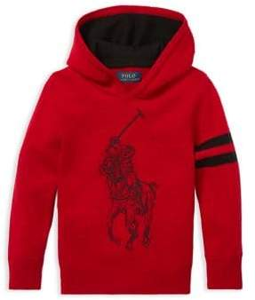 Ralph Lauren Childrenswear Little Boy's Big Pony Merino Wool Hoodie