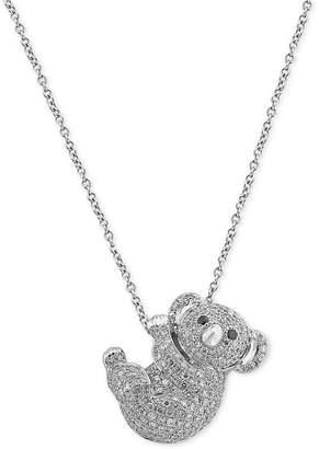 Effy Diamond Koala Pendant Necklace (5/8 ct. t.w.) in 14k White Gold