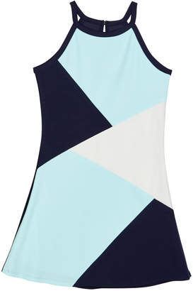 Sally Miller The South Beach Colorblock Techno Crepe Dress, Size S-XL