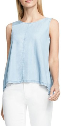Women's Two By Vince Camuto Lace-Up Back Chambray Top $79 thestylecure.com