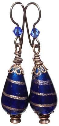 Leocadia Designs Blue Gypsy Earrings