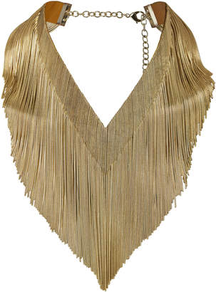 Rosantica Ambra Gold Fringe Necklace