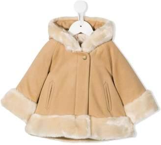 Chloé Kids faux-fur trimmed hooded coat
