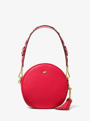 MICHAEL Michael Kors Floral Embellished Leather Mini Shoulder Strap