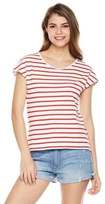Painted Heart Women's Striped Dolman Hi-Low T Shirt