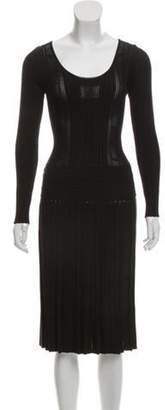 Chanel Embroidered Knit Dress Black Embroidered Knit Dress
