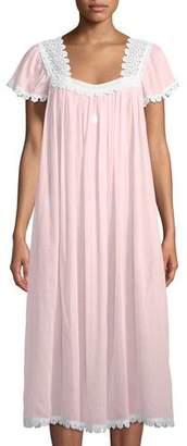 Celestine Donata Short-Sleeve Long Nightgown