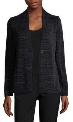 Giorgio Armani Collarless Ottoman Fitted Jacket