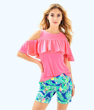 "Lilly Pulitzer Womens 7"" Jayne Stretch Short"