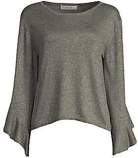 Milly Women's Shimmer Drop Sleeve Sweater