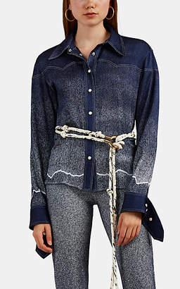 dbc5c29cc Chloé Women's Dégradé Denim-Print Silk Blouse - Blue