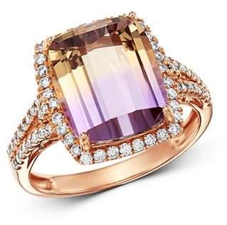 Bloomingdale's Ametrine & Diamond Cocktail Ring in 14K Rose Gold - 100% Exclusive