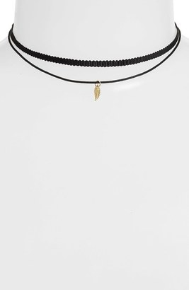 Women's Jules Smith 'Tiny Leaf - Ceres' Choker Necklace $50 thestylecure.com