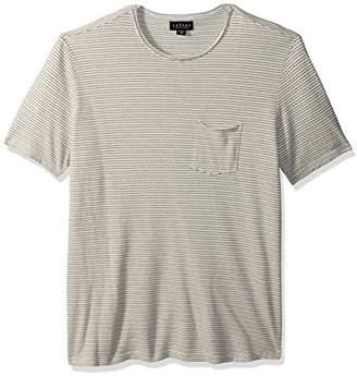 Velvet by Graham & Spencer Men's Velvet's Stripe Pique Tee Shirt