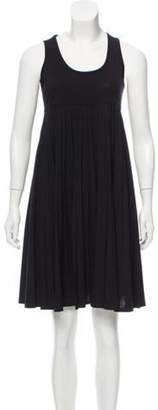 Celine Céline Wool Empire Waist Dress Black Céline Wool Empire Waist Dress