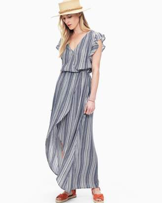 Splendid Chambray Multi Stripe Tulip Sleeve Dress