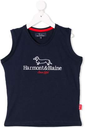 Harmont & Blaine Junior embroidered logo tank top