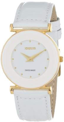 Jowissa Women's 'Elegance' Quartz Stainless Steel and Leather Casual Watch