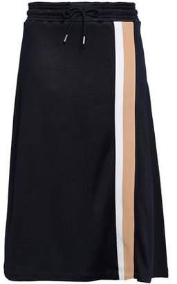 Ninety Percent Flared Striped Jersey Midi Skirt