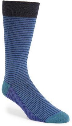 Men's Ted Baker London Stripe Organic Cotton Blend Socks $15 thestylecure.com
