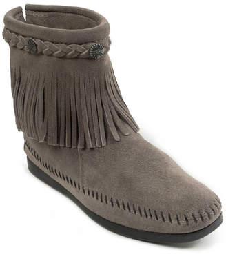 Minnetonka Hi Top Back Zip Narrow Boot Women Shoes