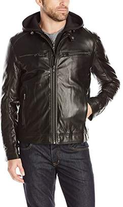 London Men's Lamb Touch Moto Hipster with Inner Hood