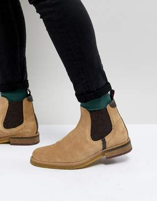 Ted Baker Bronzo chelsea boots in beige suede