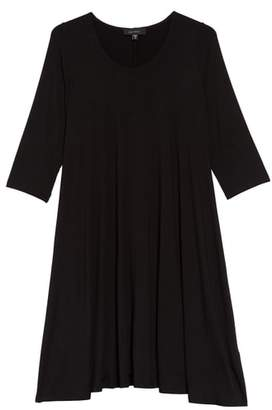 Karen Kane 'Maggie' Three Quarter Sleeve Trapeze Dress