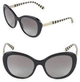 Giorgio Armani 55MM Striped Oversized Sunglasses