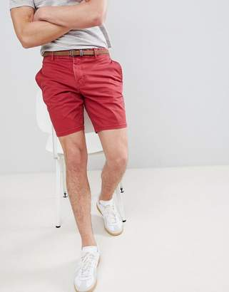 Pull&Bear Chino Shorts In Red