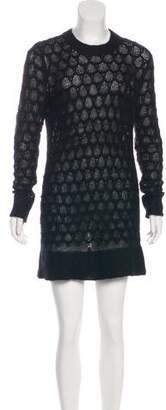 Helmut Lang Mohair-Silk Blend Knit Dress