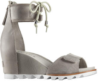 Sorel Joanie Ankle Lace Leather Wedge Sandal