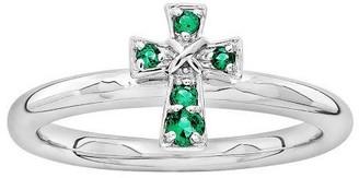Simply Stacks Sterling Birthstone Cross Ring